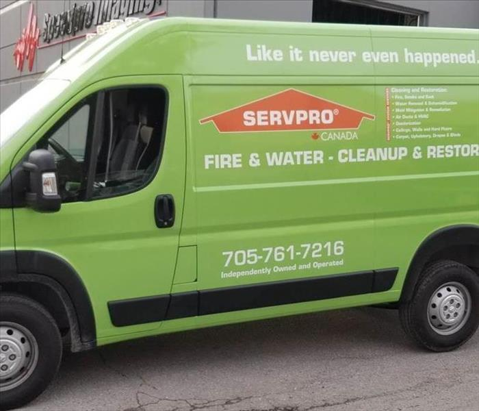SERVPRO of Peterborough van